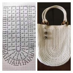 How To Crochet A Shell Stitch Purse Bag - Crochet Ideas - Diy Crafts - hadido Diy Crochet Bag, Crochet Market Bag, Knit Crochet, Crochet Handbags, Crochet Purses, Crochet Stitches, Crochet Patterns, Crochet Shoulder Bags, Knitted Bags
