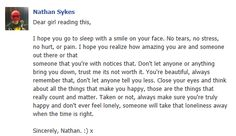 If this is really Nath's facebook... #aww #LoveHim