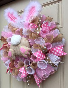 Nautical Wreath for Door, Anchor Wreath, Summer Wreath, Sum Easter Wreaths, Holiday Wreaths, Spring Wreaths, Summer Wreath, Diy Wreath, Burlap Wreath, Wreath Crafts, Easter Crafts, Christmas Crafts
