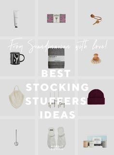 The Best Stocking Stuffers Ideas - NordicDesign Sea Salt Chocolate, Best Stocking Stuffers, Nordic Design, Little Gifts, Tea Towels, Peppermint, Best Gifts, Candle Holders, Stockings