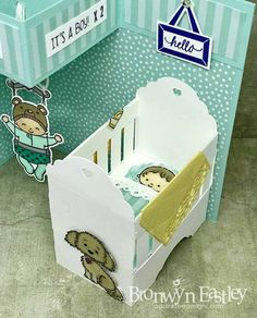 Sweet Bouncing Baby Card (with Crib)