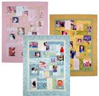 """Memory quilt ideas - see diamond cut table runner under """"quilts"""""""