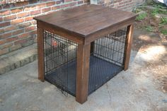 I can build this cheaper then theyre selling it for. Dog Crate Cover Pet Crate Cover Dog Crate by CratesAndPine on Etsy Dog Crate Table, Dog Crate Furniture, Diy Dog Crate, Crate Bench, Furniture Ads, Building A Dog Kennel, Build A Dog House, Dog House Plans, Dog Crate Cover