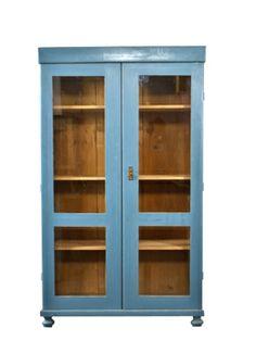 Vitrinekast blauw - De Fabricage