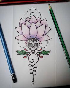 Mandala color/girly/punk.  Project Tattoo     #nice #flashtattoo #flashaddicted #tattoo #tattooaddict #tattooplanet #tatt #sketch #draw #staedtler #sharpie #sketches #artist #pencils #tattooapprentice #doithimself #mandala #mandalatattoo #girly #peace #zen #dot #yoga #girlytattoo #dessin #passiontattoo #tattoodesign #lotus #skull