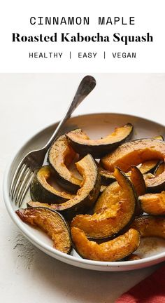 This cinnamon maple roasted kabocha squash is the perfect sweet side dish for fall and super easy to whip up. Kabocha squash wedges are tossed with olive oil, maple syrup, cinnamon and salt and roasted to caramelized perfection. Healthy Thanksgiving Recipes, Good Healthy Recipes, Paleo Recipes, Winter Recipes, Pasta Dinners, Winter Desserts, Healthy Comfort Food, Healthy Pastas, Kitchens