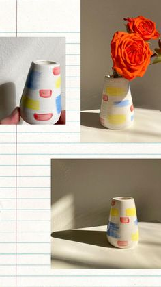 Yellow Vase, Pink Candles, Glazed Ceramic, Tea Light Holder, Bud Vases, Dusty Rose, Ceramic Pottery, Contemporary Artists, Home Interior Design