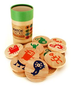 Take a look at this wooden Monster Match Stacks Game by Tree Hopper Toys on #zulily , $13.99!