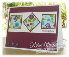 sketch.. use up old dsp stampin up card ideas | Stampin' Up Card Ideas / neat sketch