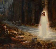 Frank Dicksee, Moonlight Painting, Royal Academy Of Arts, Art Society, Pre Raphaelite, Religious Icons, God Loves Me, Bond Street, New Testament