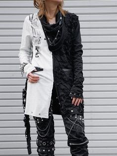 SKULL BLACK Long Cutsew Black + Off-White x Black + Deep Gray. See more at http://www.cdjapan.co.jp/apparel/new_arrival.html?brand=SPT #harajuku #punk
