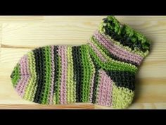 ▶ Socks slippers crochet tutorial - YouTube