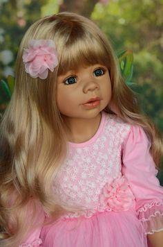 "Masterpiece Doll Coco by Monika Levenig 39"" Blonde with Blue Eyes in Stock | eBay"