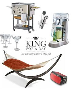 Our exceptionally priced King for a Day Gift Set includes a hammock for chilling out and all the party essentials that turn happy hour into an extended event. So let him know this Father's Day that he is king of his castle with a gift he'll enjoy all summer long.