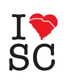 I Love South Carolina. $35.00, via Etsy.