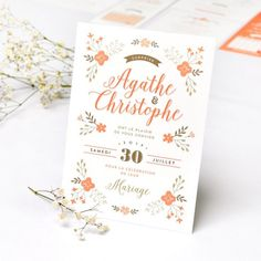 Garden Bucolic wedding invite by Print Your Love