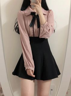 Korean Fashion Dress, Kpop Fashion Outfits, Korean Street Fashion, Ulzzang Fashion, Edgy Outfits, Cute Casual Outfits, Mode Outfits, Asian Fashion, Cute Skirt Outfits