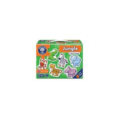 6 mini-puzzles in 1 box, depicting friendly jungle animals Each colourful puzzle has just 2 pieces Each puzzle approx x Orchard Toys, Jungle Animals, Jigsaw Puzzles, Puzzles, Puzzle