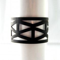 Lattice Bracelet - Recycled Bicycle Inner Tubes    http://thespotteddoor.com/c/jewelry/lattice-bracelet-333.html