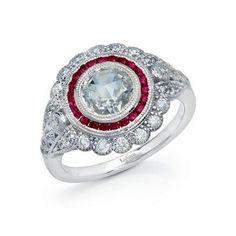 Lafonn's signature Lassaire simulated diamond Platinum Plated Ring R0248CRP05