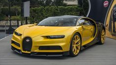The Bugatti was unveiled in Paris in 1991 and went into production until Bugatti went out of business in 1995 (Bugatti has since been resurrected by Volkswagen). The car was available as a two-door sports car and only 31 cars were produced. New Sports Cars, Exotic Sports Cars, Super Sport Cars, Exotic Cars, Bugatti Cars, Bugatti Veyron Chiron, Volkswagen, Chevy Pickup Trucks, Sport Cars