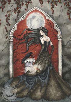 Morrigan Celtic goddess of battle, strife, and fertility