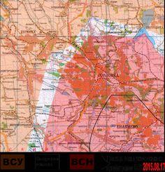 2015.08.17 Крупномасштабная карта Горловского фронта. Карта по состоянию на вечер 17 августа 2015 года.
