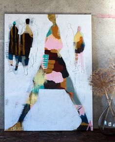 Artist Anette Carlsson Moberg www. Figure Painting, Painting & Drawing, Illustration Art, Illustrations, Figurative Art, Painting Inspiration, Collage Art, Art Lessons, Abstract Art