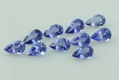 TANZANITE 7.70 CT CERTIFIED 5X8 MM PEAR FACETED WHOLESALE LOT OF 10 PIECE GEMS #SGL