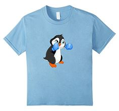 Kids Boxing Penguin 10 Baby Blue Trending Now TShirts…