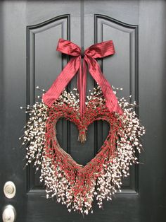 Valentine's Day Decorations -  How Much I Love You - Door Wreaths - Reception Decorations - Heart Wreaths - Valentine's Day Wreath on Etsy, $110.00