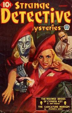 Strange Detective Mysteries, indeed! Why does that girl have her own Dot Matrix robot, and who in the world thought those hats were a good idea?