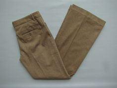 "Express Editor Pants 6 Wool Blend Tan Camel Stretch Dress Flare Lined Winter 32"" #ExpressEditorWool  #SaveonYourStyle"
