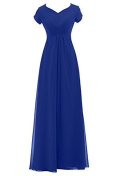 Sunvary Woman Vintage Long Chiffon Mother of the Bride Dresses with Short Sleeves Prom Evening Gowns Bridesmaid Dress US Size 2- Royal Blue Sunvary Modest dresses http://www.amazon.com/dp/B00MA4PV7G/ref=cm_sw_r_pi_dp_QNBoub016SXM5