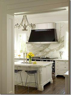 kitchens with calcatta marble   ... Gurus: Whiteout Wednesday: 5 White Kitchens with Calacatta Gold Marble