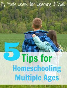 Homeschooling can be rough but homeschooling multiple ages is even rougher. Here are 5 tips for homeschooling multiple ages