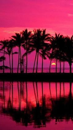 Beautiful Sunset Wallpaper Landscape Nature Wallpapers in jpg Beautiful Sunset, Beautiful Places, Beautiful Scenery, Amazing Places, Hawaiian Sunset, Pink Sunset, Sunset Beach, Pink Sky, Hawaii Beach