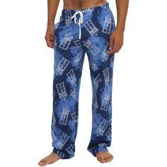 Hot Topic Doctor Who Galaxy TARDIS Guys Pajama Pants