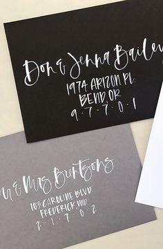 brush calligraphy hand lettered envelope addressing hand lettered envelopes wedding envelope custom envelope addressing