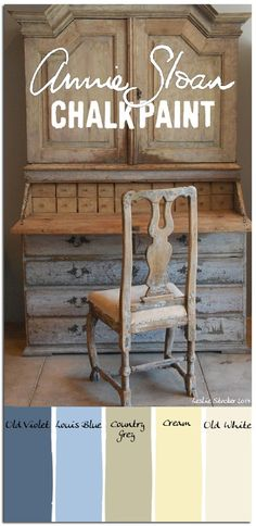 """COLORWAYS Scandinavian palette in Chalk Paint colors Annie Sloan """"Country Grey"""" Too dark for an accent ? with a white. Chalk Paint Projects, Chalk Paint Furniture, Furniture Projects, Furniture Makeover, Dresser Makeovers, Distressed Furniture, Rustic Furniture, Couleurs Annie Sloan, Chalk Paint Colors"""