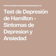Test de Depresión de Hamilton - Sintomas de Depresion y Ansiedad