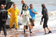 Hollywood stars Colin Firth and Rachel Weisz in Teignmouth filming Donald Crowhurst biopic