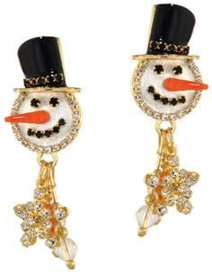 Lunch at The Ritz Jacky Frost Earrings Posts - Snowman #LunchatTheRitz #DropDanglePosts
