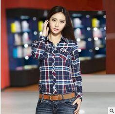 camisa feminina blouse blusas women blouses blusa feminino shirt 2016 plaid chemise