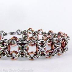 #Chainmaille Bracelet Copper & Stainless Steel by ChainmailleByBim