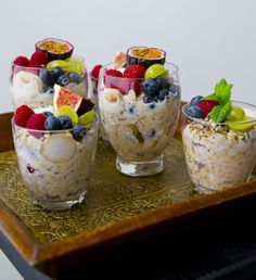 Over night oats - ZEINAS KITCHEN Pudding, Overnight Oats, Lchf, Smoothies, Oatmeal, Deserts, Food Porn, Brunch, Paleo