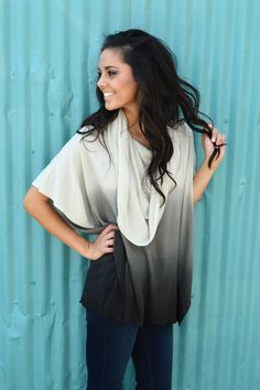 Holy COWL Neck Ombre Poncho from Shop Southern Roots TX