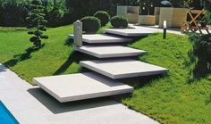 36 Super Ideas For Stairs Architecture Landscape Concrete Steps Stairs Architecture, Landscape Architecture, Landscape Design, Landscape Stairs, Landscape Bricks, Modern Landscaping, Backyard Landscaping, Landscaping Ideas, Backyard Pergola