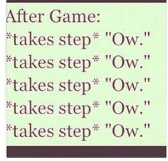 So true! I wake up in the morning soooo sore!!!