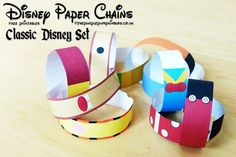 Free, printable Disney paper chains - Perfect for trip countdowns